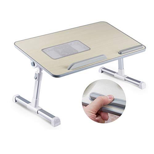 QFF@ Kleine Draagbare Tafel Voor Bed/Opvouwbare Laptoptafel/Staande Werktafel/Slaapbank Breakfast Tray, Verstelbare Hoek/Verstelbare Hoogte/USB-koelventilator, Dit Is Een Goede Keuze Voor Een Thuisk