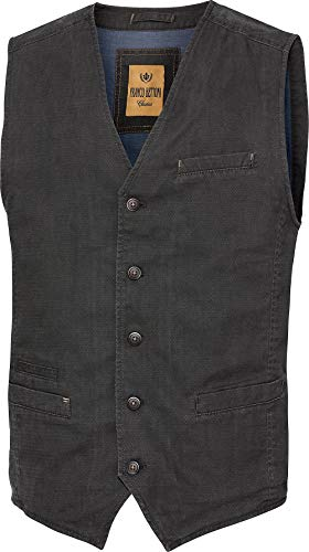Franco Bettoni Herren Weste in Anthrazit: mit Stretch-Anteil, Vintage-Look, ideal zu Jeans, Chinos, Hemden & Shirts, Gr. 50-54