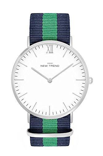 New Trend - Love for Accessories Damen Uhr analog Quarzwerk mit Nylon-Armband LZ-EUTD-5LVY