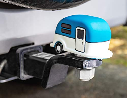 Camco Life is Better at The Campsite Hitch Cover, Blue   Protects Your Hitchball from Dirt and Rust   Compatible with 1-7/8-inch and 2-inch Diameter Balls (53306)