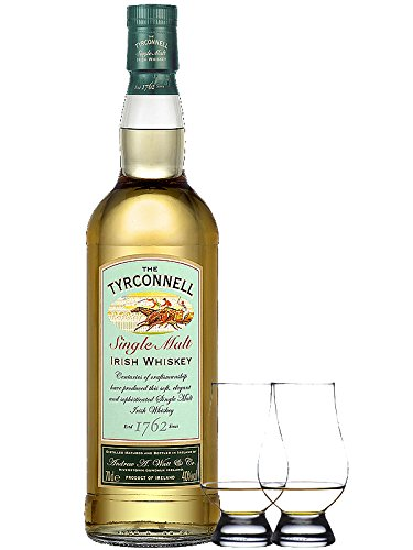 The Tyrconnell Irish Single Malt Whiskey 0,7 Liter + 2 Glencairn Gläser