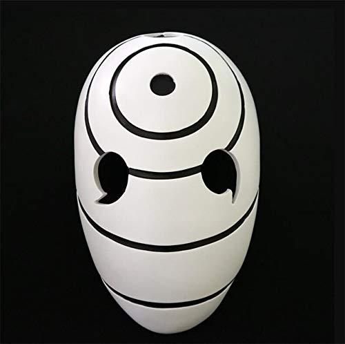 Miaoao Obito Uchiha mask,Cosplay Costumes Props Uchiha Obito Orange Resin Party Halloween Mask Gift (Color : White)