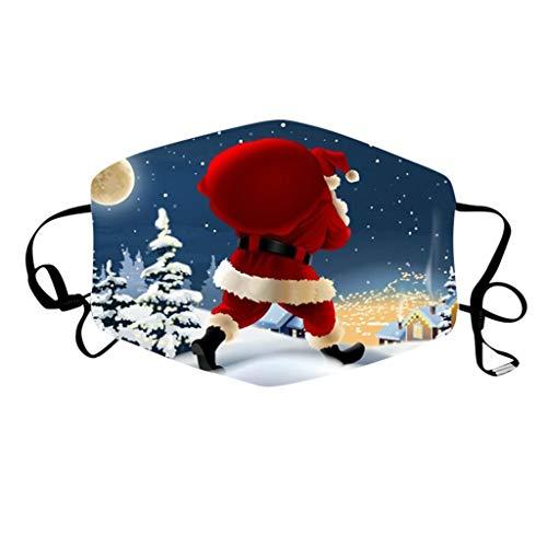 Women Bike Scarf Face Coverings Christmas Bandana Balaclavas Head Men Reusable Moulds Headbands Neck Gaiter With Filter Running Covering Mini Tree Pink Balaclava Adjustable Dust