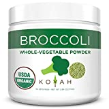KOYAH - Organic USA Grown Broccoli Powder (1 Scoop Equivalent to 1/4 Cup Fresh): 30 Scoops, Freeze-dried, Whole-Vegetable Powder