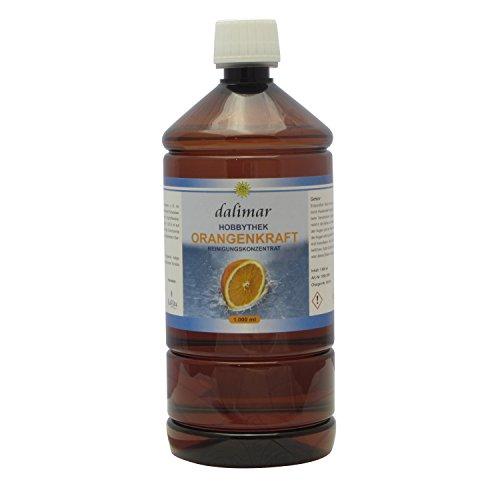 Dalimar Orangenkraft HT 1,0 L Allzweckreiniger nach Originalrezeptur der Hobbythek, Orangenreiniger, Kraftreiniger Konzentrat, PET Flasche