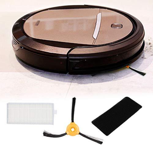 Qinlorgo Substituição de escova lateral, 10 filtros, 5 pares de acessórios de substituição de escova lateral adequados para Ecovacs N79 N79s