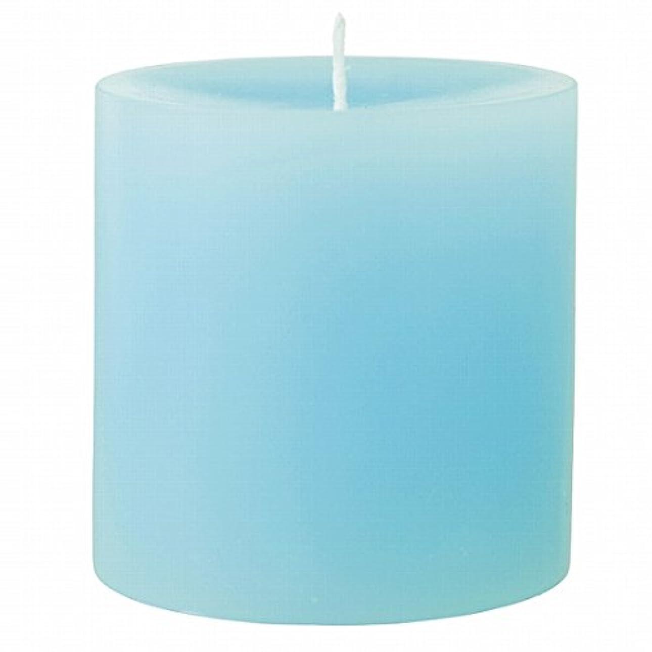 プラットフォーム文休暇カメヤマキャンドル(kameyama candle) 75×75ピラーキャンドル 「 ライトブルー 」