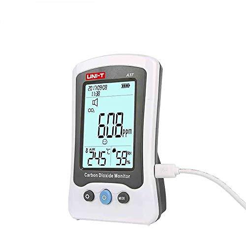 llcc El Detector De Calidad del Aire, El Hogar De Escritorio para Monitorear La Temperatura Y La Humedad del Dióxido De Carbono, Puede Configurar Una Alarma Audible, Calibración Automática