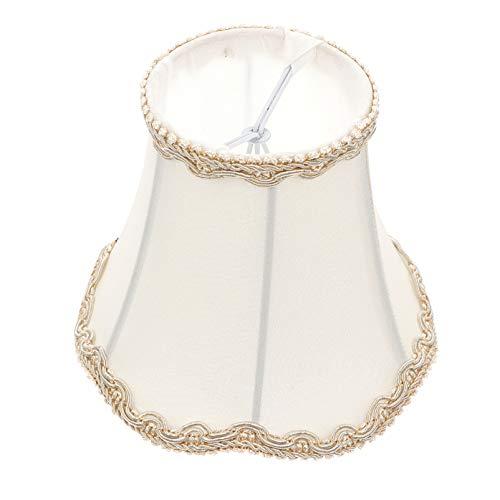 OSALADI Lampenschirm für Tischlampen Stehleuchte Ersatz Stoff Stoff Licht Schutzhülle Weiß