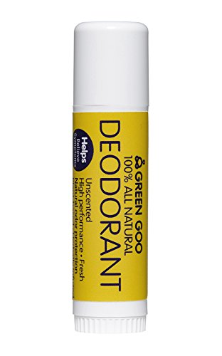 Green Goo 100% All Natural Deodorant Travel Stick (Unscented, 1 Pack)