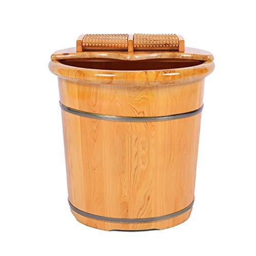 Baignoire de pied Sauna Wooden Bucket,Spa, Sauna,Soak Footbath Basin,Handmade Massage Bucket Foot Bath,Foot Spa Wash Bucket Feet Bath Basin Tub
