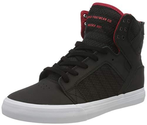 Supra Herren Skytop Hohe Sneaker, Schwarz (Black-Red/White 030), 44 EU