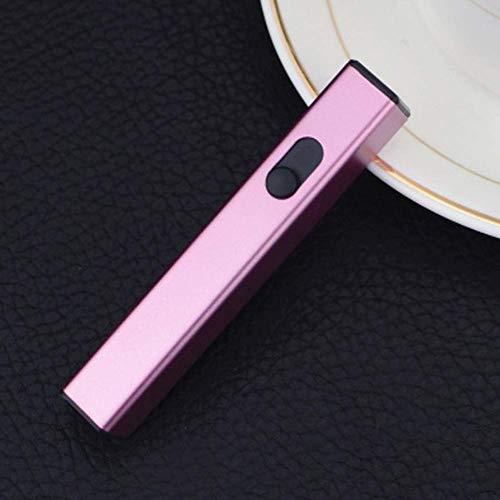 Harddo elektrische aansteker, USB-oplaadbare vlamloze winddichte plasma-elektrische aansteker USB-sigarettenaansteker roze