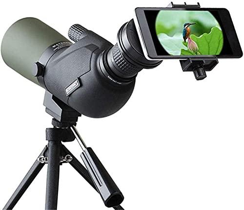 BSJZ Telescopio monocular HD 15-45X60A Telescopio de observación de Aves monocular de Viaje Alcance Lente de Zoom óptico HD Ocular Adecuado para Viajes al Aire Libre