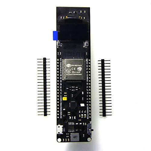 DollaTek ESP32 Tablero de Desarrollo de WiFi Bluetooth con Pantalla OLED de 0.96 Pulgadas para 18650 baterías de Litio