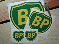 BP Coachline Shield Stickers ステッカー デカール シール グリーン&イエロー 海外限定 100mm × 95mm 2枚セット [並行輸入品]