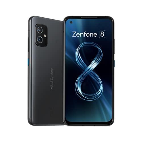 ASUS スマートフォン Zenfone 8 【日本正規代理店品】ZS590KS(8GB/128GB/Qualcomm Snapdragon 888 5G/5.9インチ/ 防水・防塵(IP65/IP68)/Android 11/5G/オブシディアンブラック/FeliCa・おサイフケータイ) ZS590KS-BK128S8/A