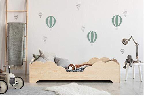 Mami - Cama para niños Montessori Chicchiè con colchón inteligente de altura para niño, color madera natural o blanco (madera natural)
