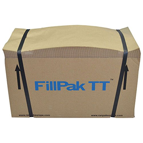 Paper Packaging Void Fill / Wrapping - 381mm x 500m. Economical Protective Packing Filler. Strong Biodegradable Brown Kraft Paper Wrap, Perforated for Easy Use. Scrunch by Hand or with FillPak TT Machine. Ideal for Filling Gaps in Moving Boxes. Recycled Material. From Packaging2Buy