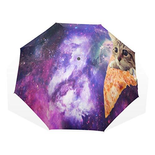 Umbrella Pizza Is America'S Favorite Travel Golf Sun Rain Windproof umbrellas with UV Protection...