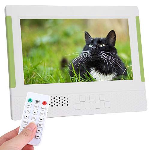VBESTLIFE Digitaler Fotorahmen, 7 Zoll 1080P 16: 9 FHD elektronischer Bilderrahmen mit Video-/Musik-Player, Uhrenkalenderfunktion für Halloween (Weiß)