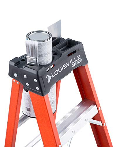 Louisville Ladder FS1408HD 8 ft Fiberglass Step Ladder, 8-Feet, Orange