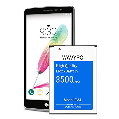 Wavypo LG G4 Battery, 3500mAh (Upgraded) G4 BL-51YF Replacement Battery for LG G4 H810 H811 H812 H815 US991 LS991 VS986, G4 G Stylo H631 LS770 Spare Battery [12 Months Service]
