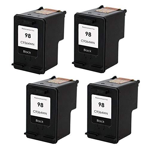 Compatible 98 95XL cartuchos de tinta reemplazo, para impresora HP 5940 2570 8049 8050 8053 C4100 4* negro