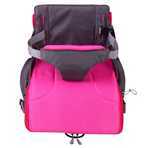 TMY chaises hautes 2 in 1 Portable Baby Booster Sièges Sac À Langer pour Maman Bébé Chaise Nourrir Mama Nappy Sac Pliable Sac À Dos À Couche (Color : Red)