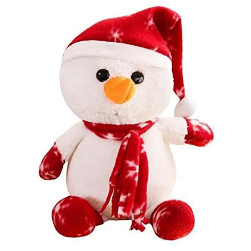 TOSSPER 1 Unid Navidad Juguetes Mimados, Muñeco Nieve Peluche, Almacenamiento E Invierno Bolsa Bolsas Fiesta para Niños Adulto
