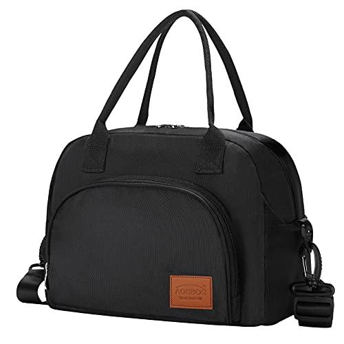 Aosbos Sac Isotherme Repas Sac Déjeuner Lunch Bag Portable pour Femme, Homme, École, Bureau