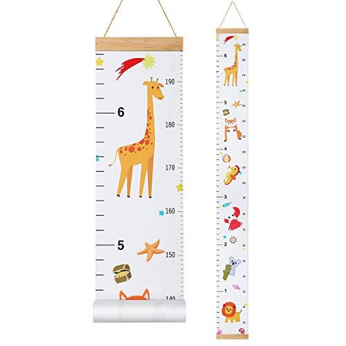 STOBOK Gráficos de crecimiento para niños, enrollable tabla de medida/regla de pared/decoración de pared para guardería regla de crecimiento guardería