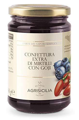 Agrisicilia Confettura Extra di Mirtilli con Goji - 360 G