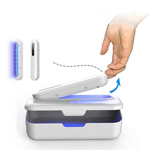 Mixnon Esterilizador UV para teléfono móvil, caja de desinfección multifuncional UV y ozono,barra desinfectante extraíble,caja desinfectante de ozono,para teléfono móvil,herramientas de maquillaje