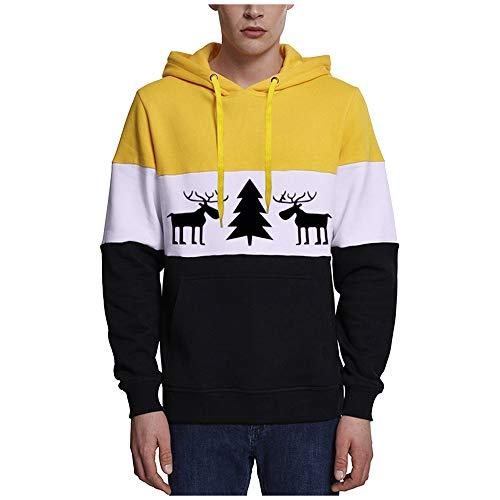 Men's Sweat Jacket Hooded Jacket Hoodie with Hood Zipper Tops Fleece-Lined Jacket Men's Casual Outwear with Pockets Drawstring Patchwork Novelty Warm Fitness Jogging Top S