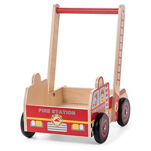Baby Vivo Lauflernwagen Lauflernhilfe Gehfrei Gehilfe Kinder Laufwagen Spielzeug Baby Walker Multifunktional aus Holz - Johnny