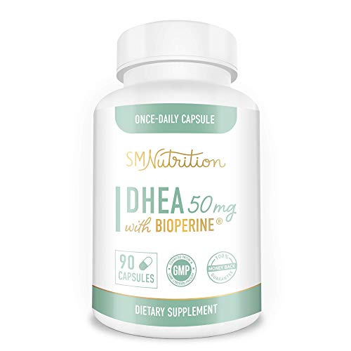 DHEA 50mg Supplement 90 Capsules (Dehydroepiandrosterone) for Body Building, Hormone Balance, Lean Muscle Mass, Bone Strength and Healthy Aging.* Gluten-Free, Vegetarian, Non-GMO