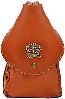 Pratesi Falgano Shoulder Bag in Genuine Leather - B492 Bruce (Orange)