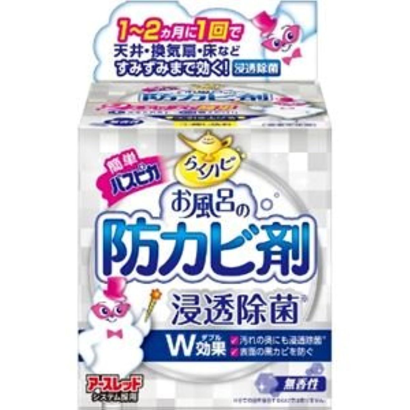 濃度マスタードこの(まとめ)アース製薬 らくハピお風呂の防カビ剤無香性 【×3点セット】