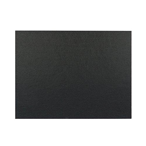 4枚入り 硬質吸音 フェルトボード 吸音パネル 800×600mm×厚さ9 mm 45度カットタイプ (ブラック)