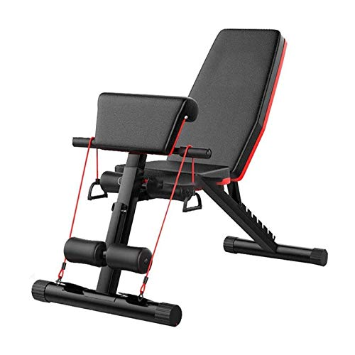 Durable Sturdy Olympic Weight Benches for Home Gym Folding Weight Bench Multifunctional Fitness 7 Backrest Home Fitness Equipment for Equipment Sit Up AB Bench with Abdominal Dumbbells Weight Training
