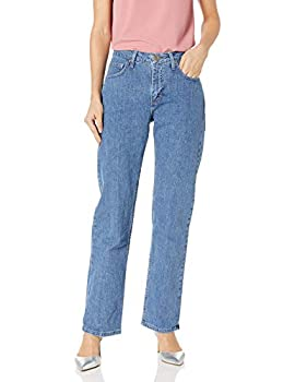 Riders by Lee Indigo Women s Relaxed Fit Straight Leg Jean,Light,8 Petite