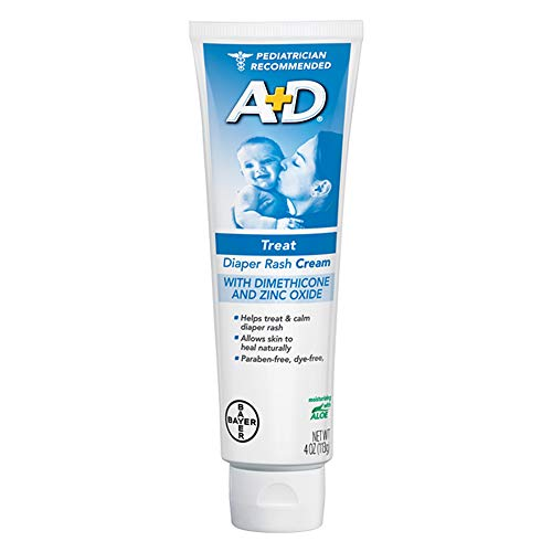 A&D Zinc Oxide Diaper Cream, 4 OZ (113 g)