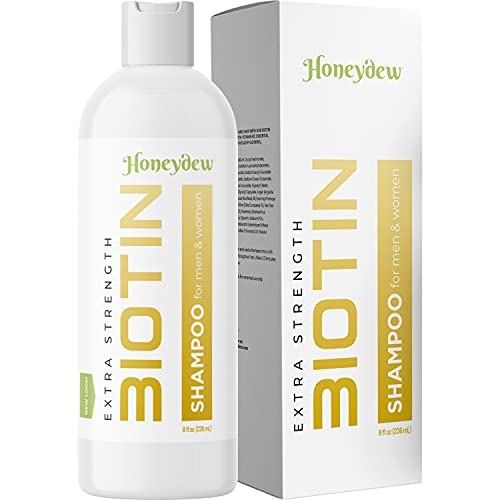 All Natural Biotin Shampoo for Hair Growth & Hair Loss - Conditioning Thinning Treatment Shampoo for Men & Women with Vitamin B5 & Zinc - DHT Blocking Formula - Sulfate Free - Safe for Colored Hair
