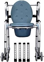 WZCC Hombre de ruedas con asiento de inodoro Silla WC mayor de la ...