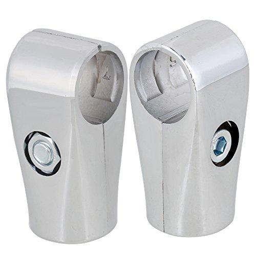 rdexp plata 2way 25mm ID tendedero de aluminio abrazadera de tubo de tubo redondo conector tubo Set de 2