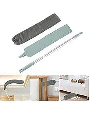 Pawaca Cepillo de limpieza de polvo, varilla telescópica ajustable, para limpieza de polvo, mojado y seco, Herramientas de limpieza del hogar debajo de la cama y el sofá.