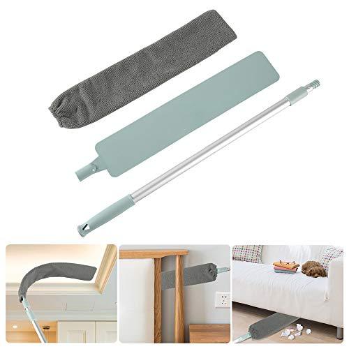 Pawaca Spazzola per la pulizia della polvere con 2 panni, asta telescopica regolabile, per la pulizia della polvere, strumenti per la pulizia della casa e del pavimento, bagnati e asciutti