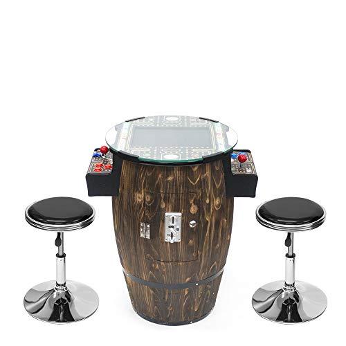 Creative Arcades Full Size Commercial Grade Wine Barrel Style Pub Arcade Machine   2 Player   412 Games   15