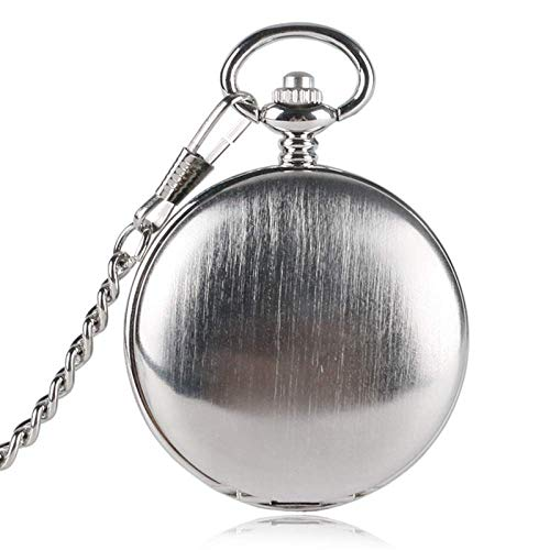 El nuevo reloj de bolsillo único plata lisa doble cubierta mecánica hombres creativo hueco esqueleto reloj mano cuerda números romanos reloj